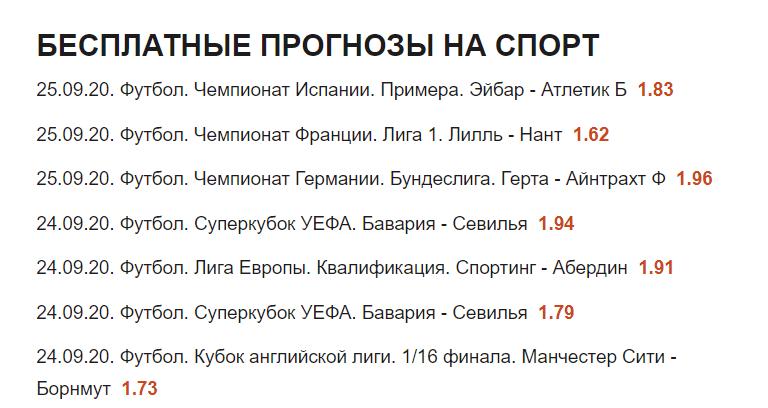 Бесплатные прогнозы Элвина Алмазова