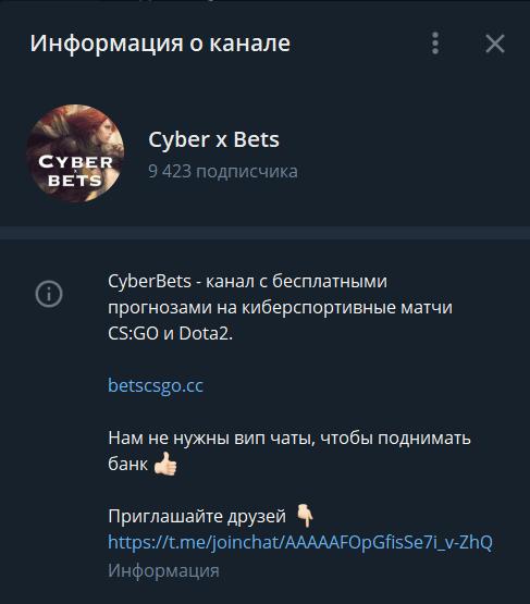 cyber x bets информация о канале