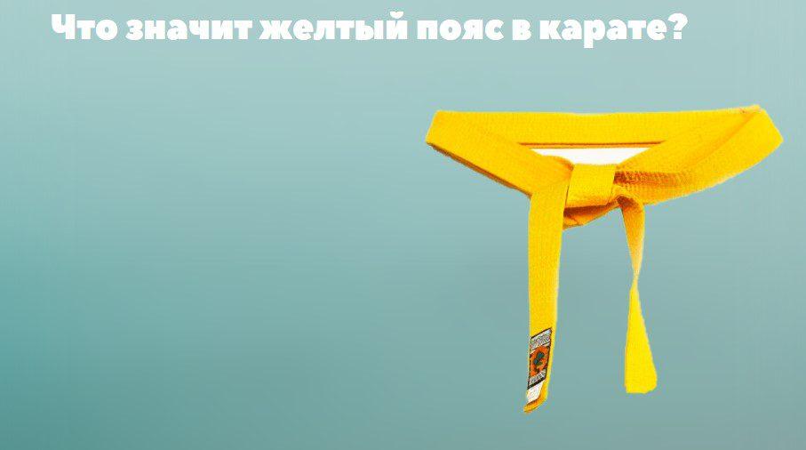 что значит желтый пояс в карате