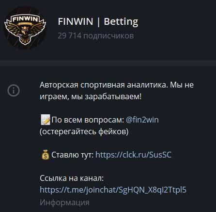 finwin информация о канале