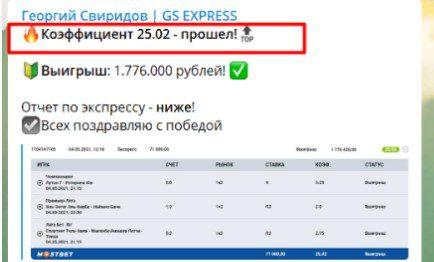 gs express коэффициент