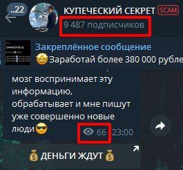 Просмотры и подписчики Телеграмм Купеческий секрет