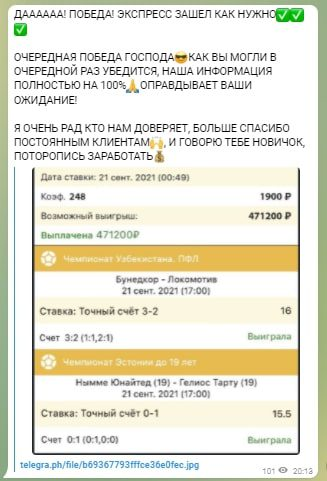 Статистика экспрессов с Телеграмм канала Инсайдер | Fixed Match