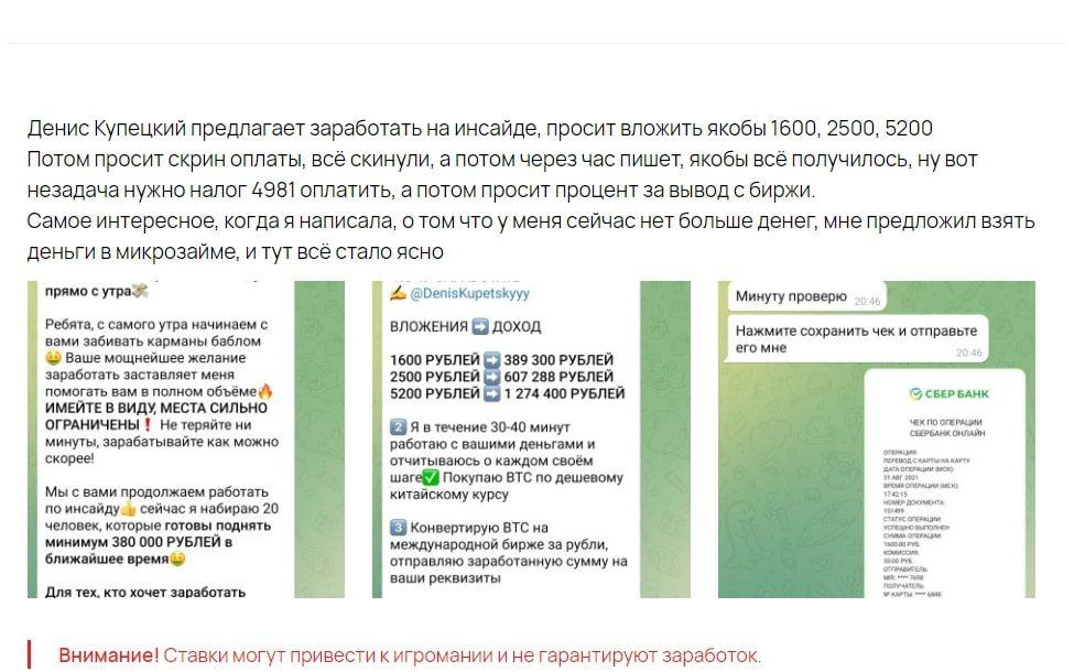 Отзывы о работе Дениса Купецкого