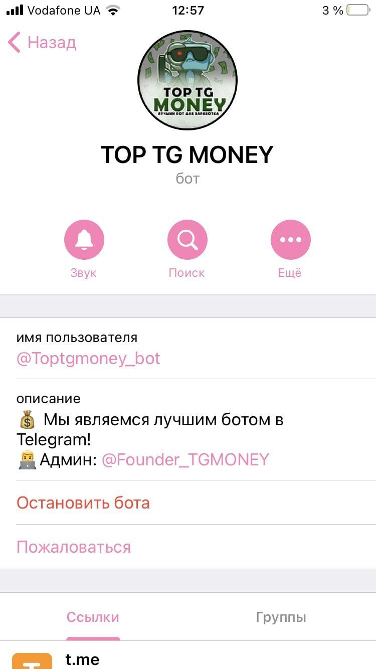Top tg money - Телеграмм бот для заработка