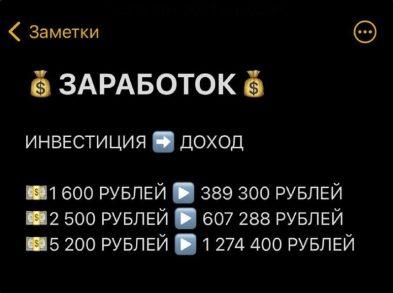 Цена услуг от Олега Мещерского