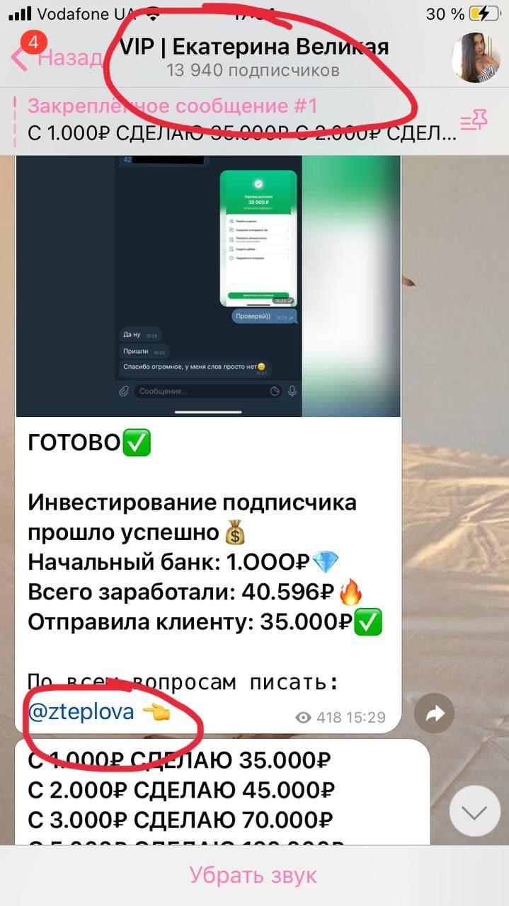 Смена имени с VIP Zlata Teplova на VIP Екатерина Великая