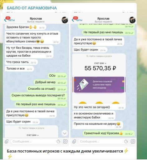 Отзывы на телеграм - канале Бабло от Абрамовича