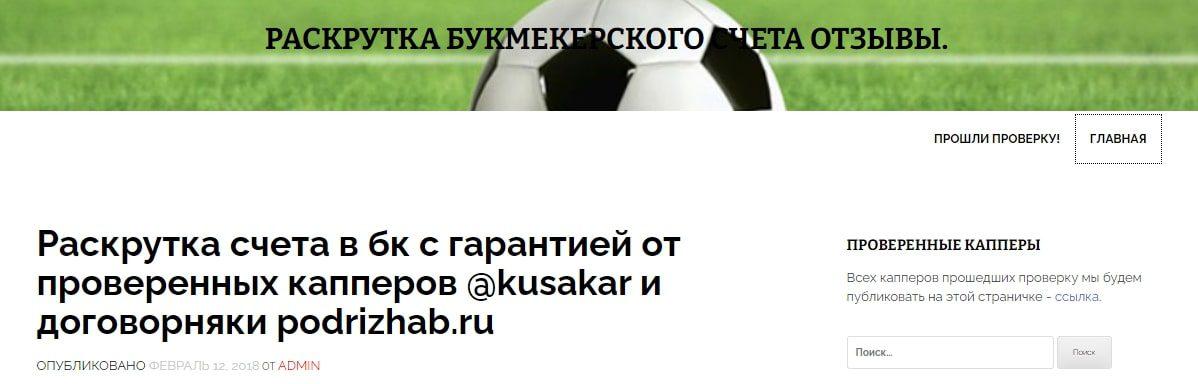 Одностраничный сайт с рекламой Kusakar