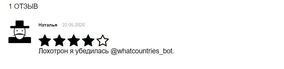 Бот Угадай страну в Телеграмме - отзыв