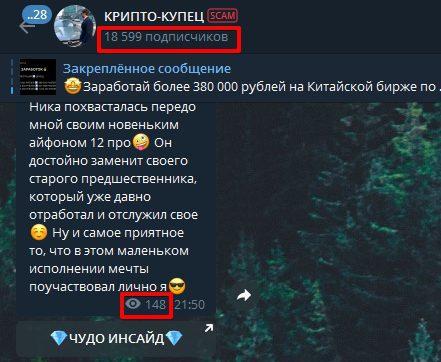 Telegram канал Дениса Купецкого Криптокупец - просмотры и подписчики