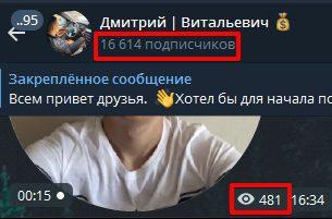 Подписчики и просмотры канала Дмитрий Витальевич