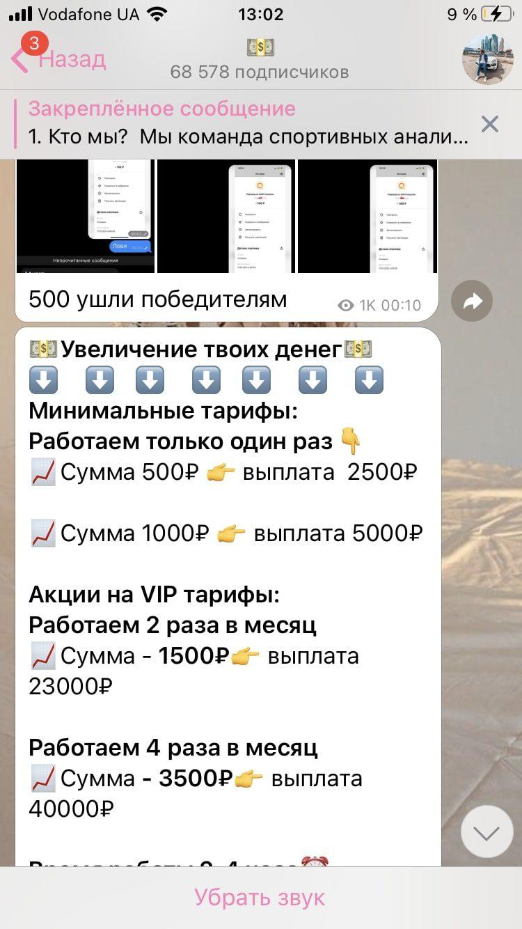 Toptgmoney Telegram bot - тарифы