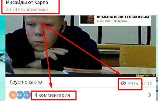 Иван Карпов в Телеграмм - подписчики и просмотры