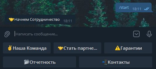 меню бота