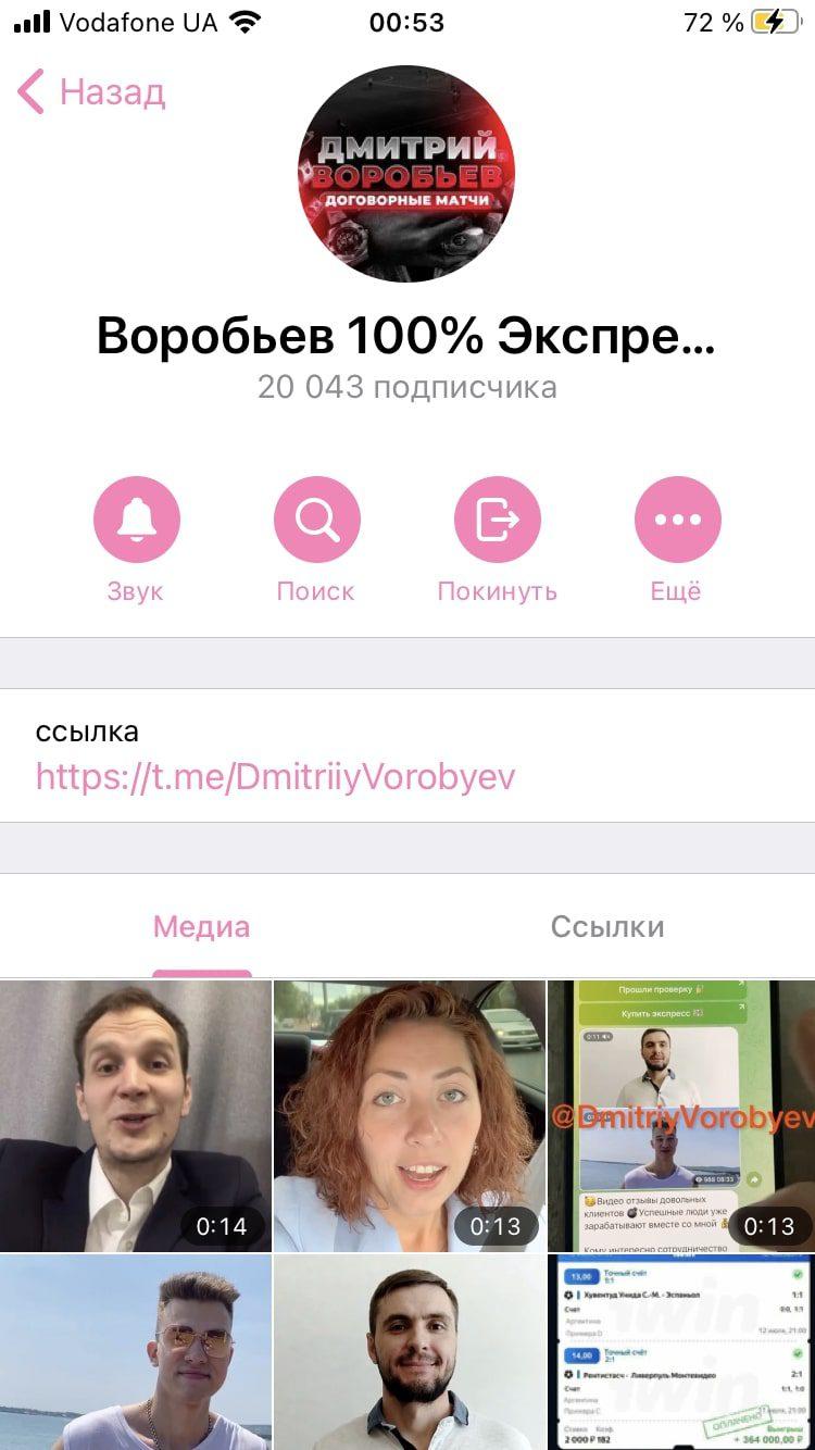 Дмитрий Воробьев – Телеграмм канал