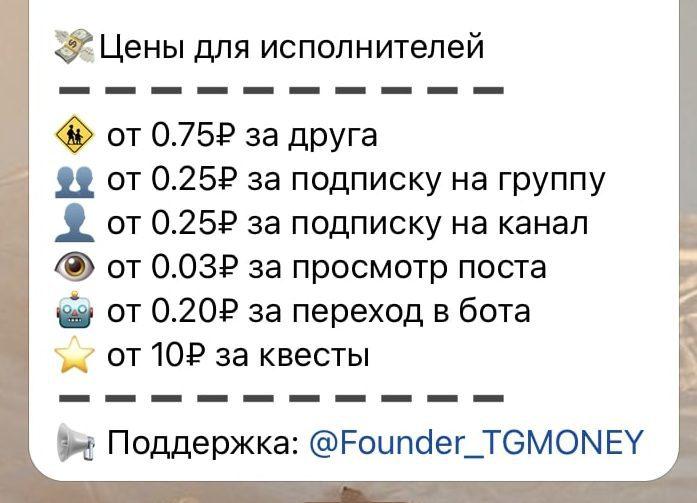 Цена услуг от каппера Top tg money bot