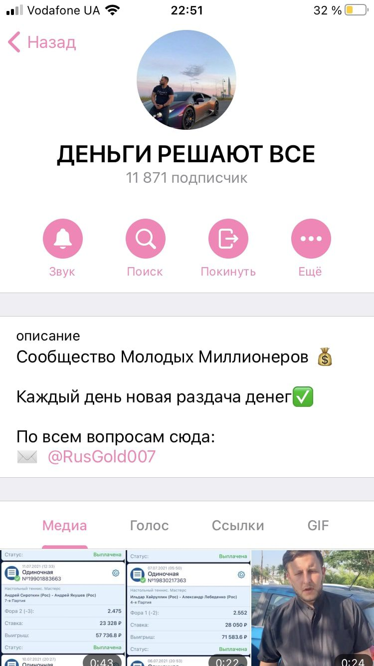 Деньги решают все - Телеграмм канал