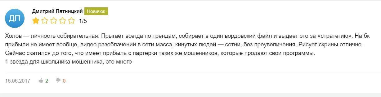 Отзывы о каппере Xolovbet Телеграмм канале