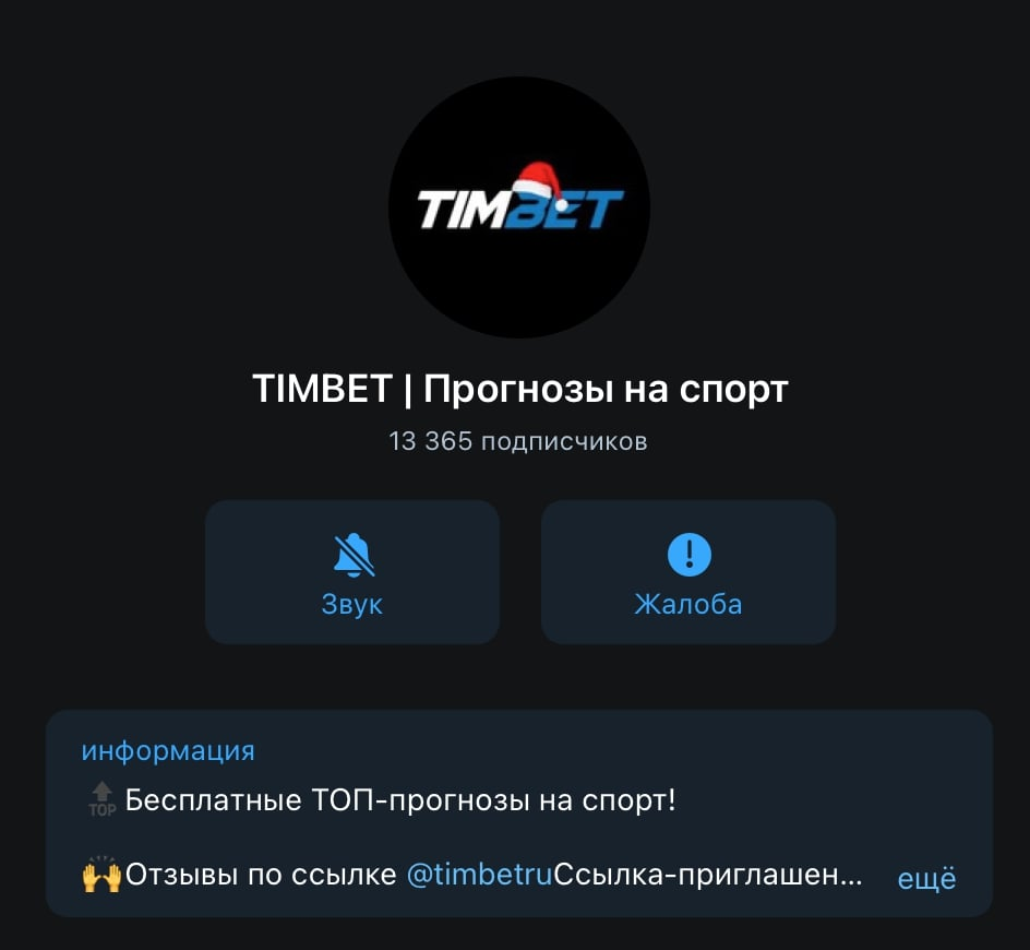 Телеграм канал Tim Bet (Тим бет)